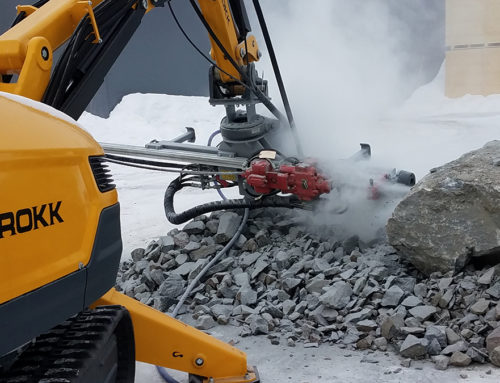 Brokk boosts safety with TEI Rock Drills